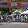 Alzando el brazo en señal de triunfo es captado Hiram Santiago Pérez del equipo Tecnología Grand Prix.