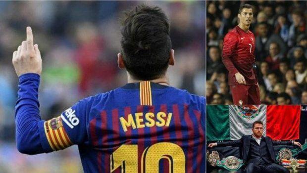 Canelo, Messi y CR7 entre los deportistas más pagados del mundo